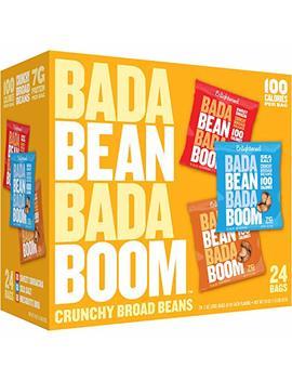 Enlightened Bada Bean Bada Boom Protein Gluten Free Roasted Broad (Fava) Bean Snack, Variety Pack, 1.0 Oz, 24 Count by Enlightened