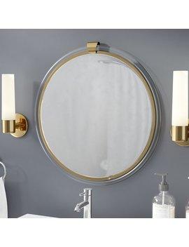 Everly Quinn Round Acrylic Wall Mirror by Everly Quinn