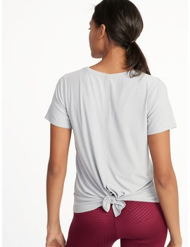 Breathe On Fly Away Scoop Neck Top For Women by Old Navy