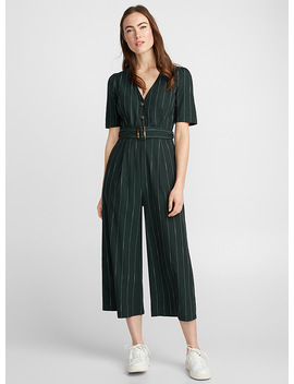 Dotted Stripe Jumpsuit by Icône