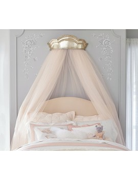 Monique Lhuillier Gold Cornice & Tulle Sheers by Pottery Barn Kids