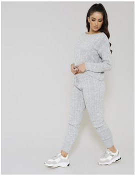 Grey Cable Knit Co Ord by Public Desire
