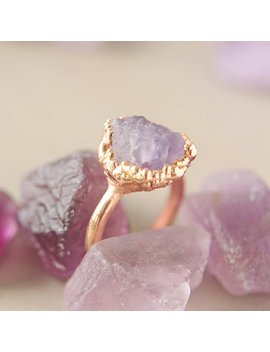 Amethyst Electroformed Copper Ring by Etsy