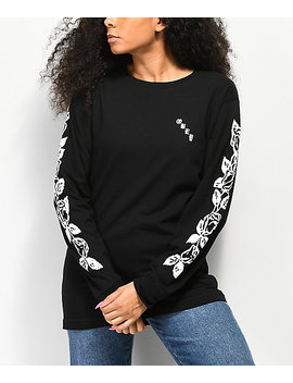Obey Olde Rose Salvage Long Sleeve Black T Shirt by Obey