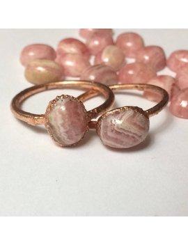 Pink Rhodochrosite Ring | Electroformed Copper Jewelry | Handmade by Etsy