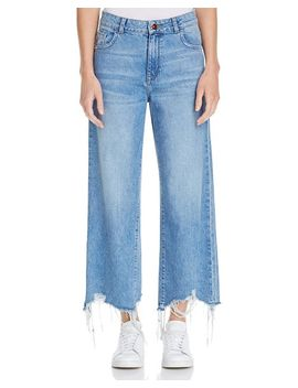 Hepburn High Rise Wide Leg Jeans In Slate by Dl1961
