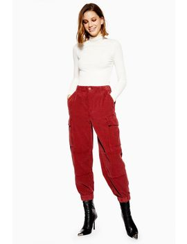 Chunky Corduroy Trousers by Topshop