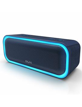 Doss Sound Box Pro Portable Wireless Bluetooth Speaker V4.2 With 20 W Stereo Sound, Active Extra Bass, Wireless Stereo Paring, Multiple Colors Lights, Waterproof Ipx5, 10 Hrs Battery Life   Blue by Doss