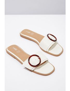 Halle Buckle Slide by Cotton On