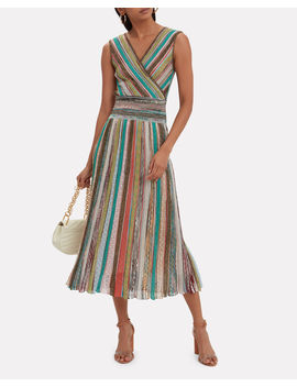 Striped Lurex Midi Dress by Missoni