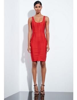 Peace + Love Red Bandage Midi Dress by Missguided