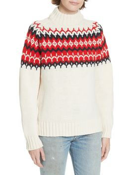 Bansha Fair Isle Merino Wool Sweater by &Daughter
