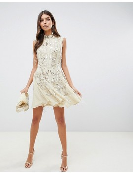Asos Design Mini Dress With Art Deco Embellishment by Asos Design