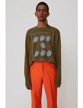 Fruit Sweater Olive Green by Acne Studios