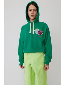 Hooded Sweatshirt Emerald Green by Acne Studios