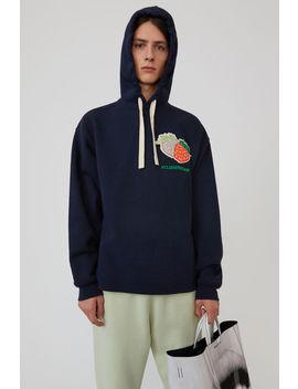 Hooded Sweatshirt Navy Blue by Acne Studios
