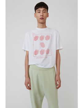 Printed T Shirt White by Acne Studios