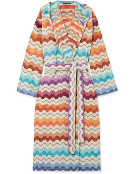Hooded Cotton Terry Robe by Missoni Home