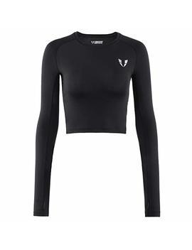 V Lovefit Womens Yoga Workout Long Sleeve Sports Shirts by V Lovefit