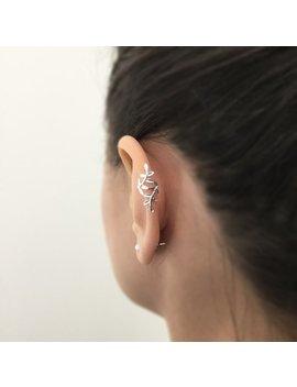 Sterling Silver Ear Cuff, No Piercing Ear Cuff, Fake Piercing, Ear Cuff, Branch Ear Cuff, Rose Gold Ear Guff, Gold Ear Cuff, Helix Cuff by Etsy