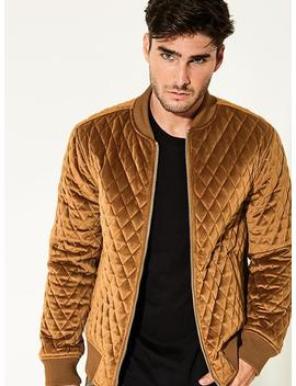 Eco Suede Quilted Camo Jacket by Guess