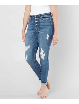 Kurvy High Rise Skinny Stretch Jean by Kan Can