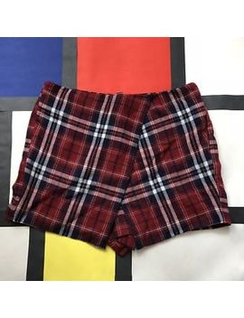 New Cooperative Urban Outfitters Maroon Plaid Envelope Skort Size 6 by Urban Outfitters