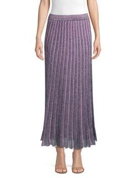 Operato Metallic Stripe Lamé Midi Skirt by Missoni