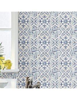 "Mistana Jovanny Spanish Tile 33' L X 20.5"" W Geometric Wallpaper Roll & Reviews by Mistana"