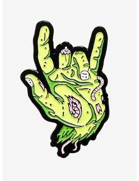 Rad Zombie Hand Enamel Pin by Hot Topic