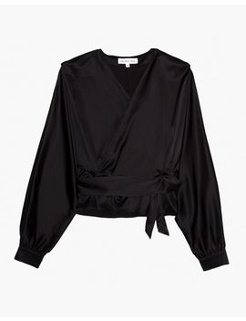 The Great Eros® Silk Ereni Wrap Top by Madewell