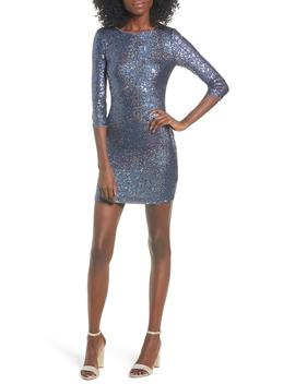 Sequin Body Con Minidress by Leith
