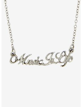 Music Is Life Necklace by Hot Topic