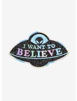 Alien Ufo Believe Glitter Patch by Hot Topic