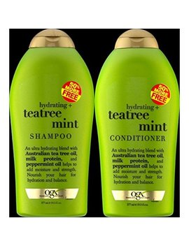 Ogx Organix Tea Tree Mint Shampoo 19.5 Oz + Conditioner 19.5 Oz Duo Set by Ogx
