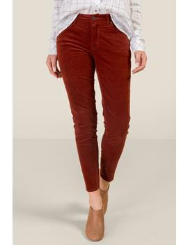 Kelly Micro Cord Mid Rise Skinny by Francesca's