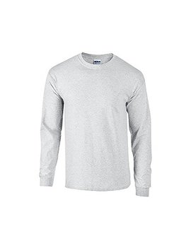 Gildan Mens Plain Crew Neck Ultra Cotton Long Sleeve T Shirt by Gildan
