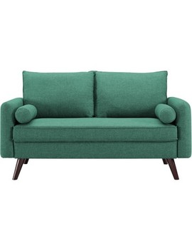 Carmel Mid Century Modern Loveseat In Sea Foam   Lifestyle Solutions by Lifestyle Solutions