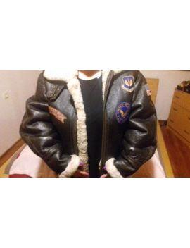 Premium Usaf B3 Aviator Nappa Leather Sheepskin Shearling Flying Jacket M by Ebay Seller