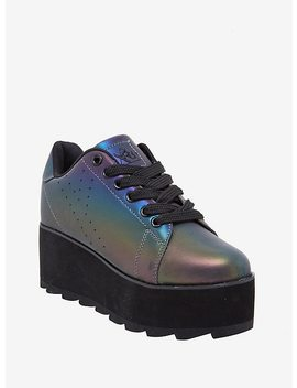 Y.R.U. Lala Reflective Platform Sneakers by Hot Topic