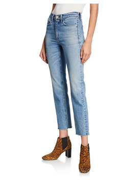 Ankle Cigarette Mid Rise Cropped Jeans by Rag & Bone