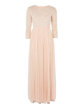 **Embellished Maxi Dress By Lace &Amp; Beads by Topshop