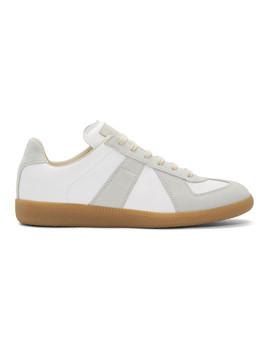 White & Grey Replica Sneakers by Maison Margiela
