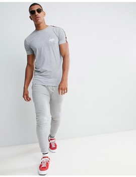 Hype T Shirt With Gray Taped Logo by Hype