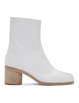 White Tabi Boots by Maison Margiela
