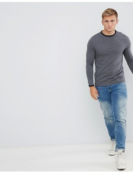 Asos Design Long Sleeve T Shirt With Crew Neck With Contrast Ringer by Asos Design