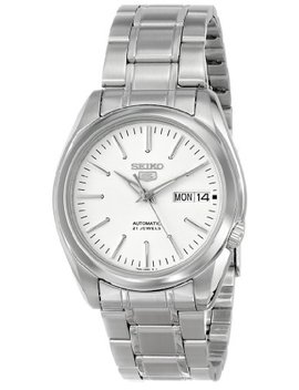 "Seiko Men's Snkl41 ""Seiko 5"" White Dial Stainless Steel Automatic Watch by Seiko"