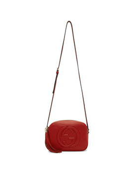 Red Small Soho Disco Bag by Gucci