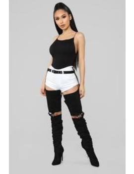 Keep Trying Heeled Boot   Black by Fashion Nova