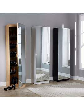 Small Mirrored Shoe Cabinet by Dunelm